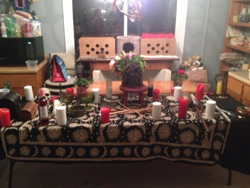 Imbolc 2013 altar February 2, 2013 Salt Lake City, UT