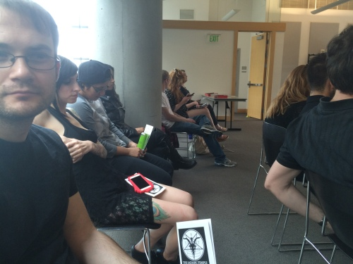Satanic Temple-Utah open meeting, attendees, Salt Lake City Public Library, Saturday, May 21, 2016, Salt Lake City, UT