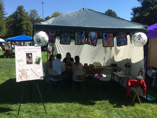 Salt Lake City 15th Annual Pagan Pride Day, Lei Loni Middleton (middle), SLPS booth, Saturday, September 17, 2016, Liberty Park, Salt Lake City, UT