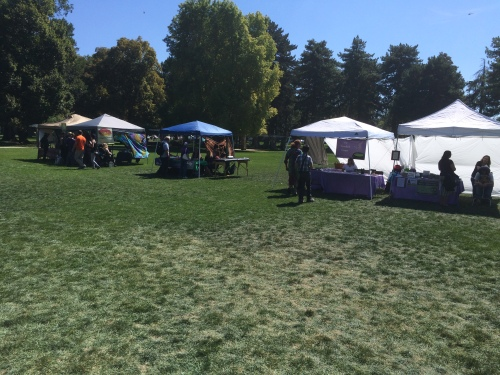 Salt Lake City 15th Annual Pagan Pride Day, vendor booths (looking SE), Saturday, September 17, 2016, Liberty Park, Salt Lake City, UT