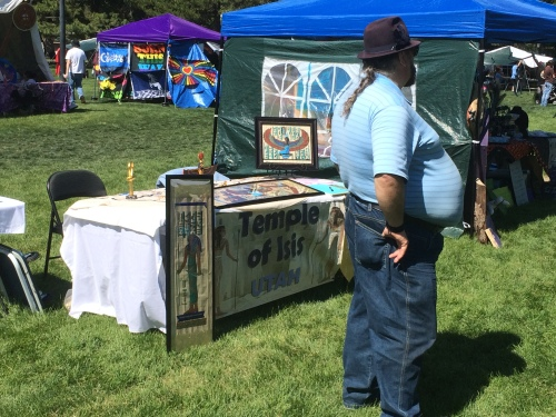 Salt Lake City 15th Annual Pagan Pride Day, Temple of Isis booth, Saturday, September 17, 2016, Liberty Park, Salt Lake City, UT