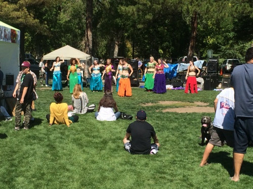 Salt Lake City 15th Annual Pagan Pride Day, Bellydancing by Thia dancers, Saturday, September 17, 2016, Liberty Park, Salt Lake City, UT —