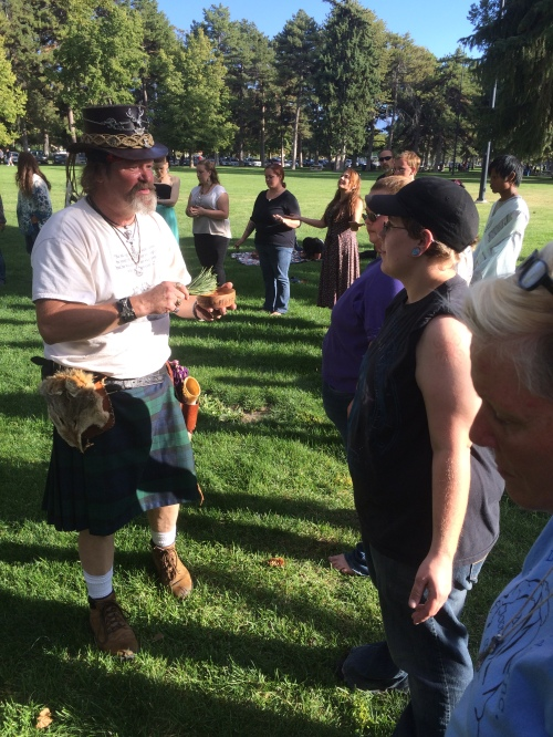 Salt Lake City 15th Annual Pagan Pride Day, Rex Juhlin (l), Saturday, September 17, 2016, Liberty Park, Salt Lake City, UT